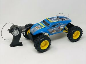 Maisto Tech 4WD Electric RTR RC Off Road Rock Crawler Climber Toy Blue & Yellow