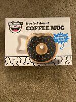 Donut Hole Coffee Mug 16 oz From Big Mouth Frosted Ceramic Java Gift Mug New