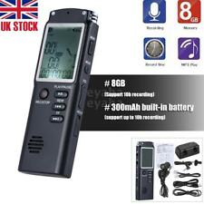 Digital 8GB LCD Audio/Sound/Voice Recorder Dictaphone Music Player Rechargeable