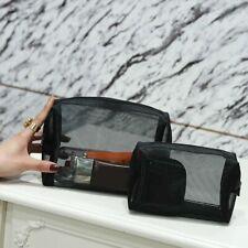 Cosmetic Bag Women Transparent Mesh Travel MakeUp Case Organizer Bags Pouch Kit