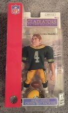 "New NFL Gladiators Of The Gridiron Brett Favre 9"" Green Bay Packers Figure Doll"