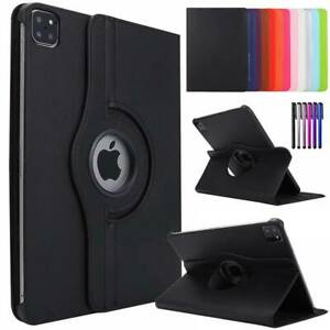 "For Apple iPad Pro 11"" 12.9"" 2020 360° Rotating Leather Flip Stand Case Cover"