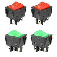 4pcs Light ON-OFF DPDT Panel Mount Rocker Switch KCD4 6 Pin 16A 250V AC