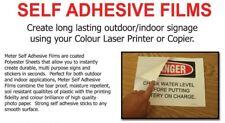 50 Sheets A4 Laser Polyester Film *Translucent* MATT for Indoor Outdoor Signage
