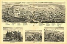 Guysville Athen County Ohio c1875 map 18x12