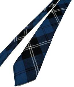 NEW, LOCHCARRON FINE WOOL BLUE TARTAN/PLAID NECK TIE, SCOTLAND, $50