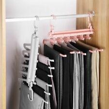Folding Multi-Layer Pants Clothes Rack Modern Home Storage Hanger Clothing New