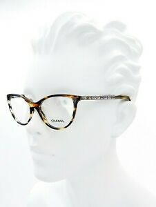 New Chanel CH3303-B c.1498 Brown Gold Eyeglasses RX Frames 53mm 53-17-140 Italy