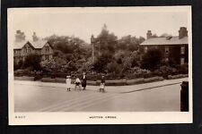 Huyton Cross near Liverpool - real photographic postcard
