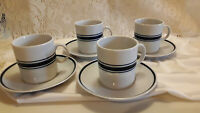 Four (4) Sets Demitasse Cups & Saucers Javolina / Favolina Made in Poland