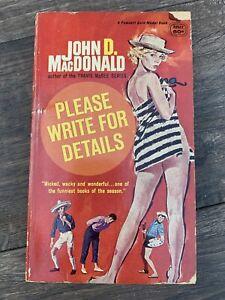 Please Write For Details John D MacDonald vintage GGA paperback Gold Medal BB