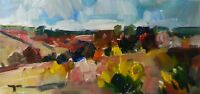 JOSE TRUJILLO - Expressionism LANDSCAPE Panorama COA - Highly Collected Artist
