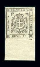Modena Governo Provvisorio 1859 - 15 c.mi grigio nuovo con gomma (n.14). BdF