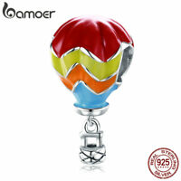 Bamoer S925 Sterling Silver charm Bead Cute Balloon Dangle Fit Women Bracelets