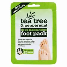 Tea Tree & Peppermint Foot Pack Cracked Heel Callus Deep Moisturising 1 x Pair
