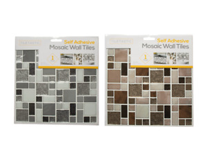Glitter Tiles Silver & Copper Self Adhesive Floor Wall 26cm Stickers Sheets Tile