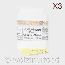 Nattokinase 200mg plus CoQ-10 200mg 4,000FU's Heart Health Genuine Japanese X3