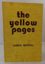 James Merrill / The Yellow Pages Signed 1st Edition 1974
