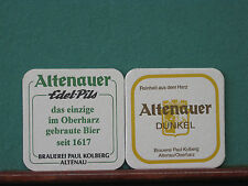 Altenauer Dunkel Edel-Pils Altenau Oberharz Paul Kolberg  2 Stück Bierdeckel