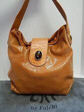 Chi by Falchi Burnt Orange Reptile Leather Jeweled Shoulder Bag
