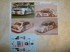 "BMW M3 RALLYE EL CORTE INGLES 1988 ""TEXACO/PEPSI"" JOSE MARIA PONCE DECALS KC43"