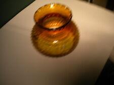 VINTAGE AMBER HOBNAIL STUDENT LAMP SHADE 7 INCH