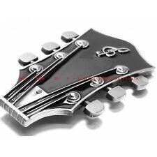 HBU1559 GUITAR STRING TUNER HEAD HEADSTOCK ROCK & ROLL MUSIC BAND BELT BUCKLE