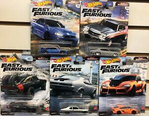 New Hot Wheels Premium Fast & Furious Fast Superstars - You Choose!