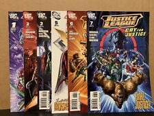 Justice League Cry For Justice 1 2 3 5 6 7 Nm Dc Comics Combine Shipping 2009