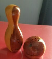Bowling Ball and pin salt and pepper shakers