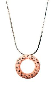 Crystals From Swarovski Loop Circle Pendant Necklace Gold Plated Authentic 9110o