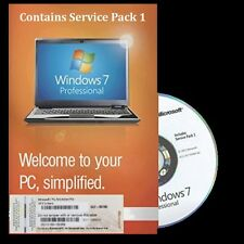 Genuine Microsoft Windows 7 Professionnel OS SP1 32 bits DVD & Clé de produit COA