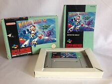 MEGA MAN X MegaMan Super Nintendo SNES GAME Complete Pal ~ Pics