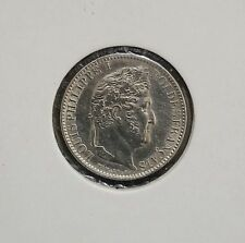 LOUIS PHILIPPE 1/2 FRANC Argent silver 1845 W LILLE SPLENDIDE KM 741.13