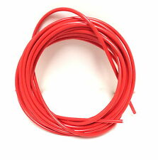 BICYCLE BIKE LINED BRAKE CABLE HOUSING RED/ORANGE BY THE FOOT FERRULES & CRIMPS
