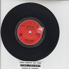 "THE POLICE  Every Breath You Take  7"" 45 rpm vinyl record + juke box title strip"
