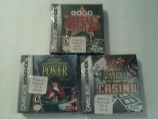 3 NEW Nintendo Game Boy Advance Games Casino/Poker/Texas Hold 'Em Games