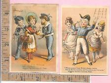 HIGGINS GERMAN LAUNDRY SOAP GREAT BRITAIN SAILORS GIRLS BUTTERCUP  TRADING CARD