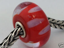 Authentic Trollbeads Murano Glass Retired Lilac Shadow (A) Bead Charm, 61161 New