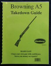 Browning  A5  Shotgun  Takedown Disassembly Assembly Guide Radocy  NEW