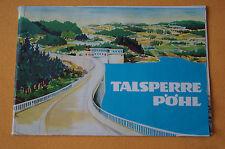 Broschüre / Prospekt Talsperre Pöhl 1964, Wanderwege