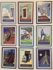 9 Different  2007 Ebay Live Boston Postage Stamp Trading Cards GREAT condition