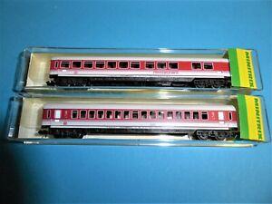 MINITRIX 2x DB IC/EC Wagen #13328 #13329