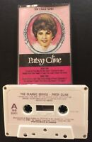 Patsy Cline S/T The Classic Series RARE Cassette Paper Labels Import VG TESTED