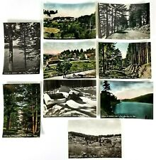 Bellezze di Calabria Italy RPPC Lot of 9 Postcards 5.5 x 4 B & W and Colorized