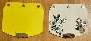 Two (2) FURLA  Metropolis Interchangeable Flaps w/ Snaps Leather Italy