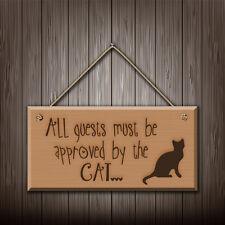 Alle Gäste Muss Anerkannt Von The Cat - Graviert holz wandschild/sign