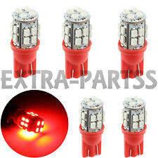 5X Pure RED T10/194/168/2825 20-SMD Wedge LED Car Dome Map Interior Light bulbs