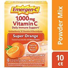 Emergen-C Vitamin C 1000mg Powder (10 Count, Super Orange Flavor), With Antioxid