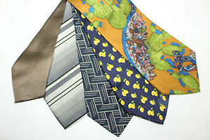 LOT OF 5 DOLCE & GABBANA  silk ties MADE IN ITALY. F16476